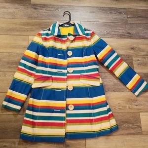 Boden colorful striped trench coat